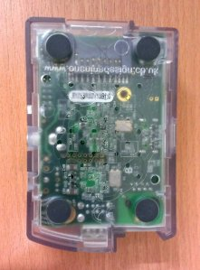 bottom view of raspberry pi in casing