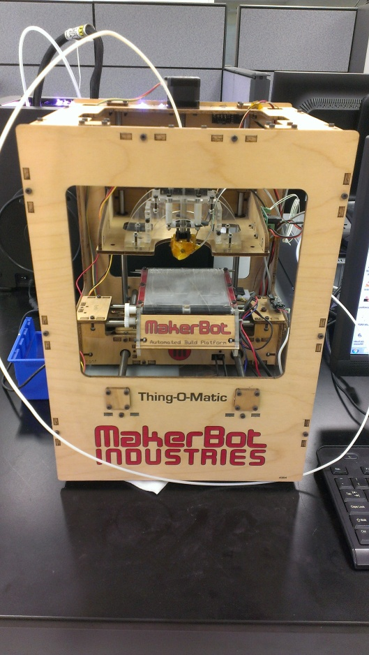 The first generation 3D printer, no longer functioning.